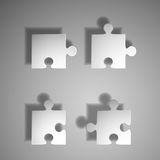 Gray piece the puzzle with shadow. Eps10 Royalty Free Stock Photo