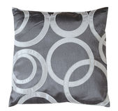 Gray pillow. Isolated Royalty Free Stock Photo