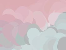 Gray and pink clouds Royalty Free Stock Photos