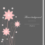 Gray and pink flower background royalty free illustration