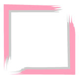Gray pink frame for postcard, text on white. Background Royalty Free Stock Image