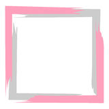 Gray pink frame for postcard, text on white. Background Royalty Free Stock Photos