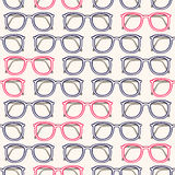 Gray and pink glasses. Seamless background with gray and pink eyeglass frames Stock Image