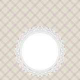 Gray and pink retro card Royalty Free Stock Images
