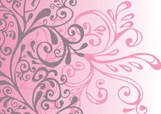 Gray, pink and white ornament Royalty Free Stock Images