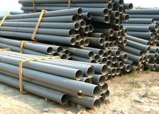 gray pipes pvc Royaltyfria Bilder