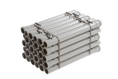 gray pipes pvc Fotografering för Bildbyråer
