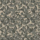 Gray pixel seamless camo pattern. Military desert camouflage texture. royalty free illustration