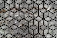 Gray plaid seamless mosaic pattern, background, texture royalty free stock photography