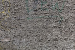 Gray plaster dirty wall texture. Plaster wall background with stain and paint Stock Photos