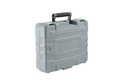 Gray plastic case Stock Image