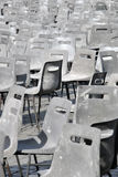 Gray Plastic chairs Stock Photo