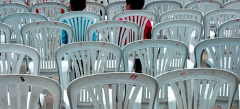 Gray plastic chairs Stock Image