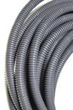 Gray plastic corrugated pipes Stock Image
