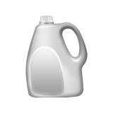 Gray  plastic  jerrycan  ,isolated on white background Royalty Free Stock Photos
