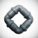 Gray plastic pipes. Stock Image