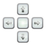 Gray pointer buttons Royalty Free Stock Photos