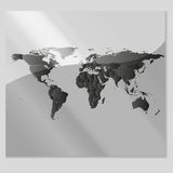 Gray Political World Map Vector Lizenzfreie Stockbilder
