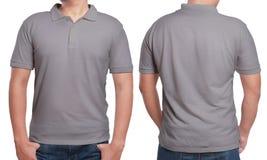 Gray Polo Shirt Design Template Immagini Stock Libere da Diritti