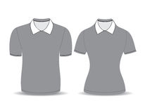 Gray polo shirt outline Royalty Free Stock Photos