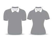 Gray polo shirt outline Royalty Free Stock Photos
