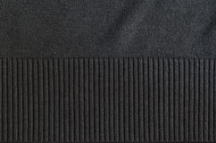 Gray polyester fabric texture with stripes. Sleeve Royalty Free Stock Photo