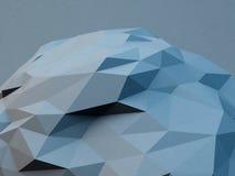 Gray polygonal shape. Abstract geometrical modern background. 3D render illustration. Gray polygonal shape. Abstract geometrical modern background. 3D render stock illustration