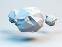 Gray polygonal spheres. Abstract geometrical modern background. 3D render illustration. Gray polygonal spheres. Abstract geometrical modern background. 3D render royalty free illustration