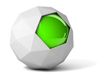 Gray polyhedron Royalty Free Stock Photos