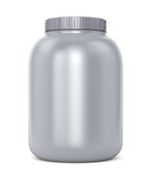 Gray protein jar Stock Photography