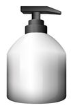 A gray pumping bottle Royalty Free Stock Photo