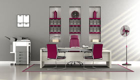 Gray and purple modern office Royalty Free Stock Image