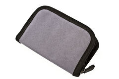 Gray purse Stock Photos