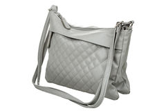 Gray purse Stock Images