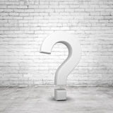 Gray question mark Royalty Free Stock Image