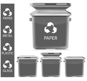 Gray recycle garbage Royalty Free Stock Image