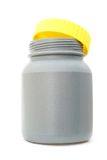 Gray recycled plastic bottle Stock Image