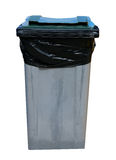 Gray recycling bin Stock Images