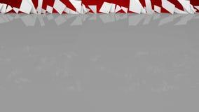 Gray&Red illustration de vecteur