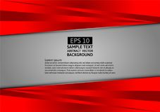 Gray and red abstract vector background.  Stock Photography