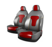 Gray and Red car seats. Automobile details. isolated white. Gray and Red car seats. Automobile details, isolated white Royalty Free Stock Photos