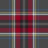 Gray red check plaid texture seamless pattern. Vector illustration Royalty Free Stock Photos
