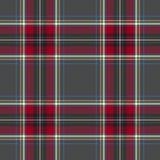 Gray red check tartan textile seamless pattern. Vector illustration stock illustration