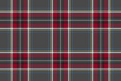 Gray red check texture background seamless pattern. Flat design. Vector illustration royalty free illustration