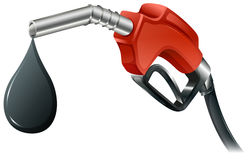 A gray and red colored fuel pump Stock Images