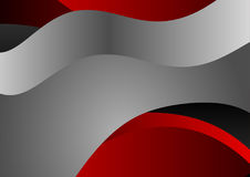 Gray and red  curve abstract vector background Stock Photography