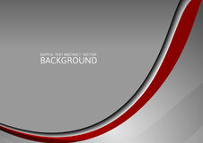 Gray and red  curve abstract vector background with copy space Stock Image