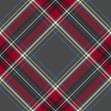 Gray red diagonal check tartan textile seamless pattern Royalty Free Stock Photography