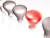 Gray and red lamps Royalty Free Stock Photos