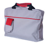 Gray-red laptop bag Stock Images